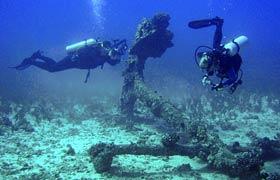 WWII underwater artifacts
