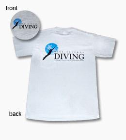 t-shirt front mike severns diving short sleeved